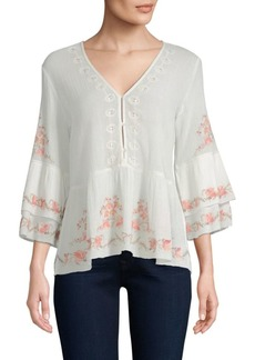 Joie Kamile Floral Embroidered Blouse