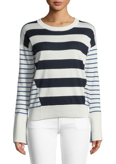Joie Kaylara Striped Long-Sleeve Sweater