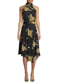 Joie Kehlani Floral-Print Silk Halter Dress