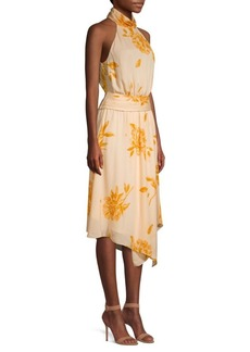 Joie Kehlani Silk Hankerchief Hem Dress