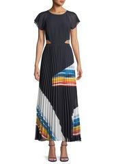 Joie Keitha Pleated Flutter-Sleeve Maxi Dress