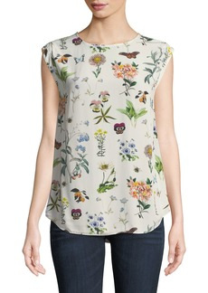 Joie Kelda Floral-Print Sleeveless Top