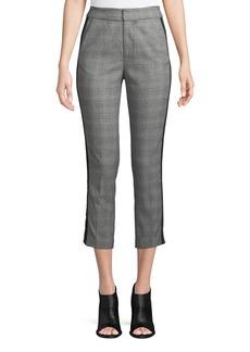 Joie Kenadia Side-Stripe Cropped Straight-Leg Pants