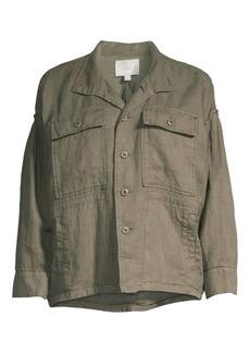 Joie Kendora Linen Cargo Jacket