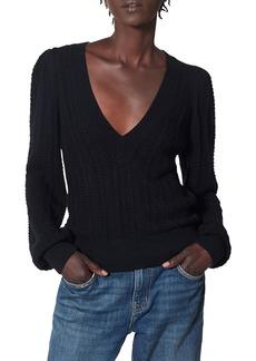 Joie Kerry Cable-Knit Cotton-Cashmere Top