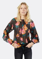 Joie Kirston Long Sleeve Silk Top