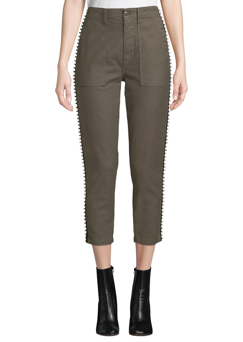 Joie Kirtana Studded Cropped Utility Pants