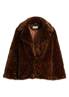 Joie Kisha Leopard Print Faux-Fur Jacket