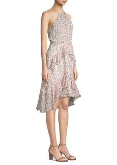 Joie Lamberta Halter Print High-Low Dress