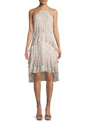 Joie Lamberta Printed Silk Halter Dress