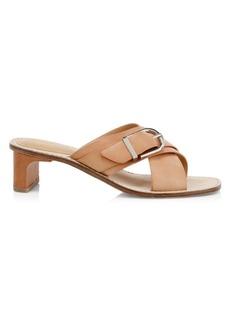 Joie Landri Leather Mid-Heel Mules