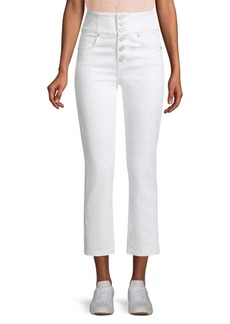 Joie Laurelle High-Waist Button Fly Jeans