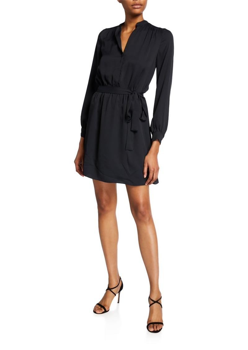 Joie Leonore V-Neck Tie-Waist Short Dress