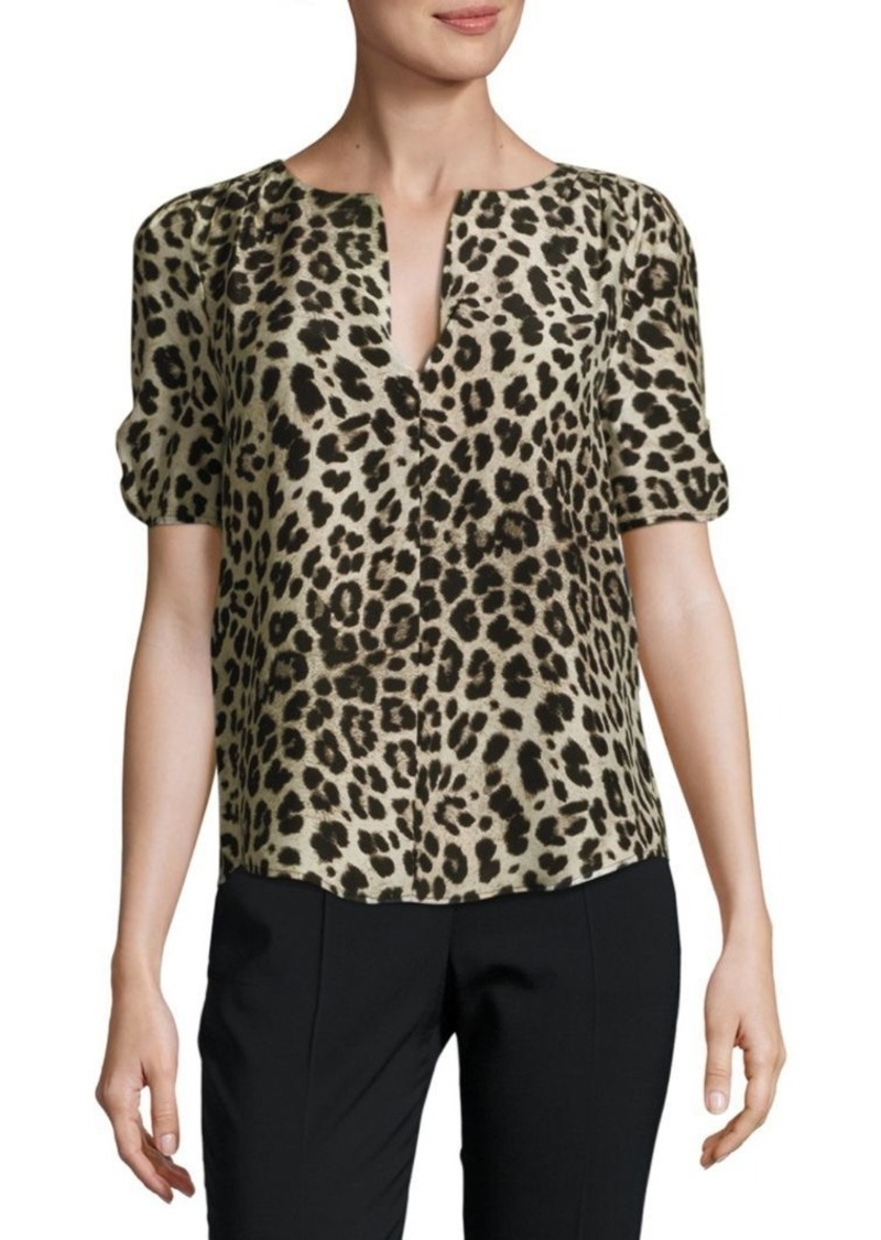 8a46f4d65fb7ee Joie Leopard-Print Silk Blouse   Casual Shirts