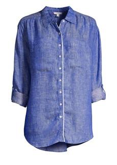 Joie Lidelle Linen Button-Front Shirt