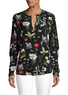 Joie Liselli Floral Keyhole Blouse