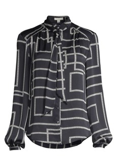 Joie Lutana Geometric Balloon Sleeve Blouse