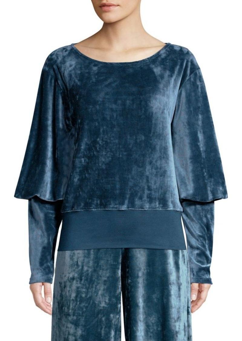 Joie Lyndell Velour Balloon Sleeve Sweatshirt