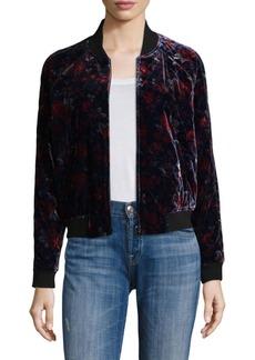 Joie Mace Floral Velvet Bomber Jacket