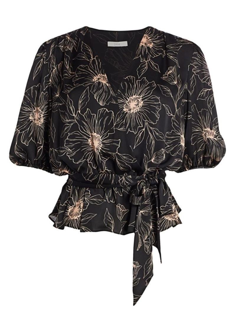 Joie Macie Floral Wrap Blouse