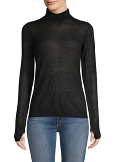 Joie Maili Sheer Wool & Silk Turtleneck