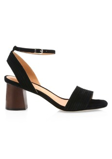 Joie Malant Ribbed Suede Sandals