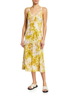 Joie Maple Printed Silk Midi Dress