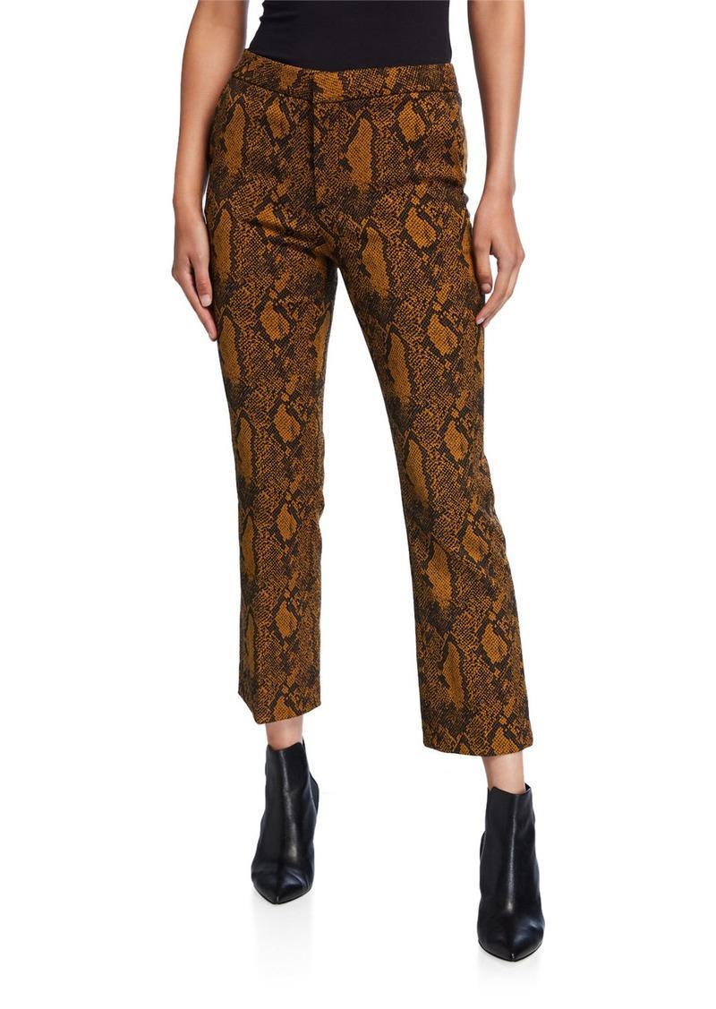 Joie Marcena B Snake-Print Cropped Pants