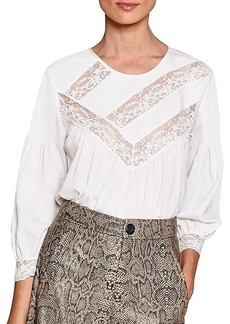 Joie Margette Lace Insert Blouse