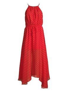 Joie Matalina Print Silk Halter Dress