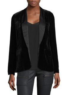 Joie Mehira Velvet Tuxedo Blazer