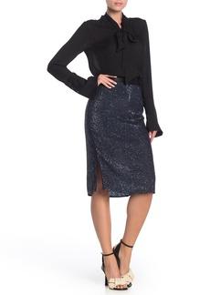 Joie Miltona Sequined Pencil Skirt
