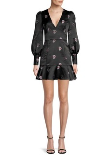 Joie Minia Woven Jacquard Mini Dress