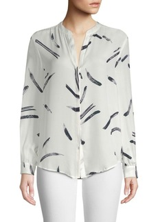 Joie Mintee Silk Long-Sleeve Blouse