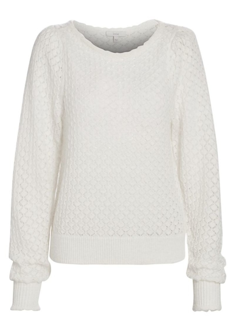 Joie Moxya Open-Knit Wool Sweater