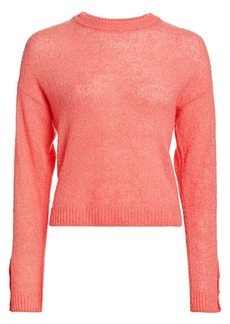 Joie Namio Button Detail Crewneck Sweater