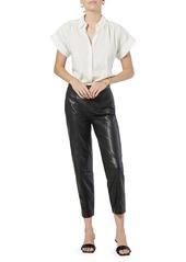 Joie Naro Short-Sleeve Cotton Shirt