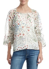 Joie Neema Floral Drawstring Blouse