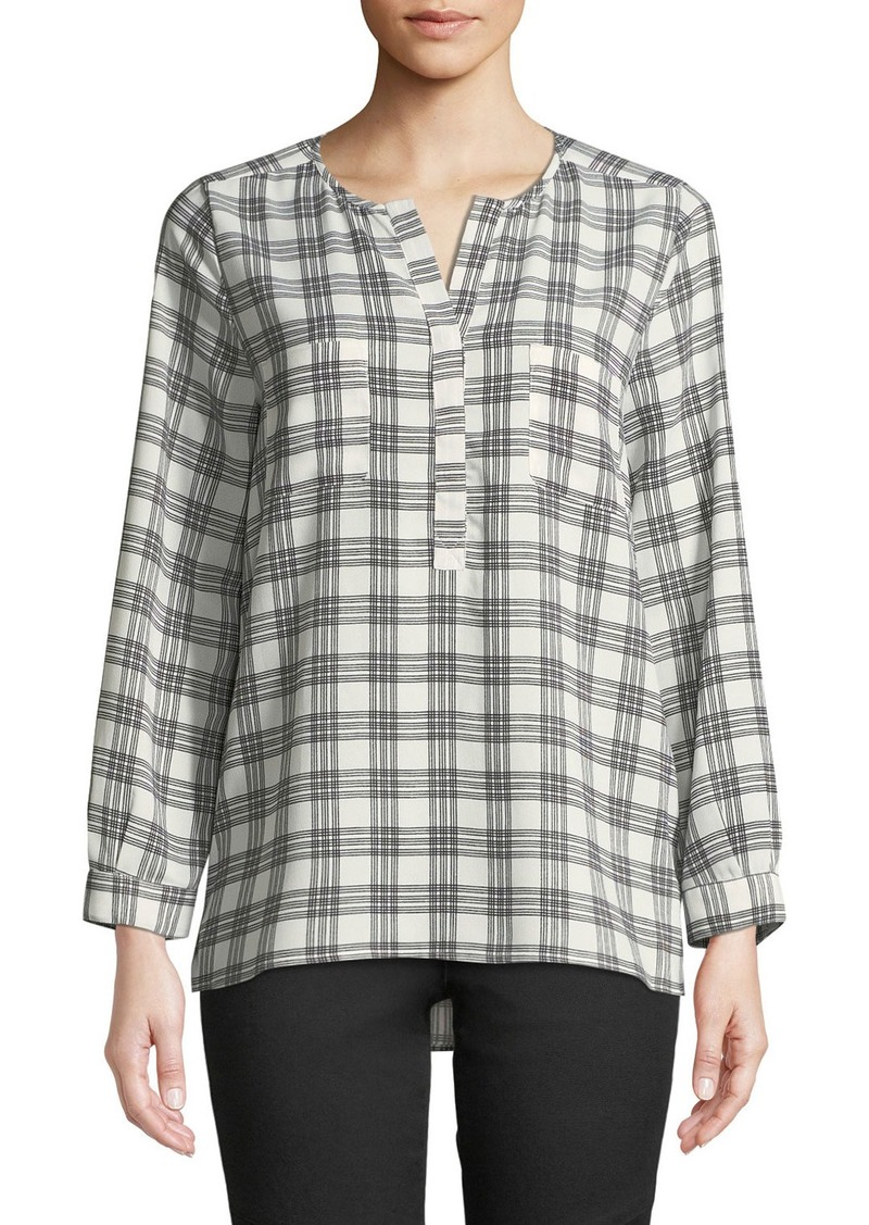 Joie Nepal Checkered Long-Sleeve Blouse