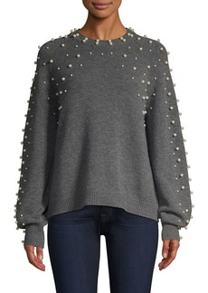 Joie Nilania Pearl Crystal Knit Sweater
