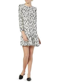 Joie Noto Printed Ruffle-Hem Dress