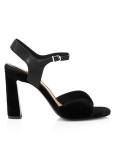 Joie Okina Ankle-Strap Velvet Sandals