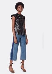 Joie Orien Vegan Leather Top
