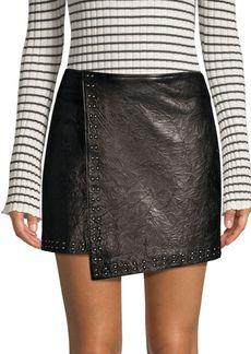 Joie Orlanda Washed Leather Mini Skirt