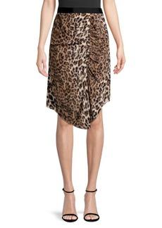 Joie Ornica Leopard Handkerchief Skirt
