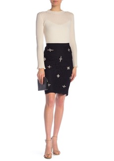 Joie Ortally Bejeweled Accent Skirt