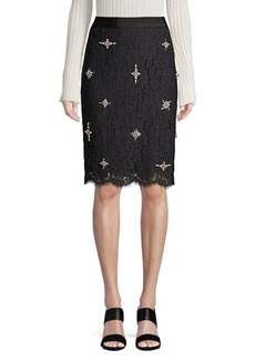 Joie Ortally Lace Pencil Skirt