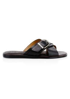 Joie Parsin Leather Buckled Slide Sandals