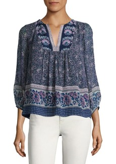 Joie Perialla Printed Silk Top