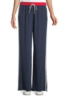 Joie Perlyn Side-Stripe Silk Track Pants